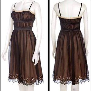 Max & Cleo Black Stunning Silk Evening Dress Black